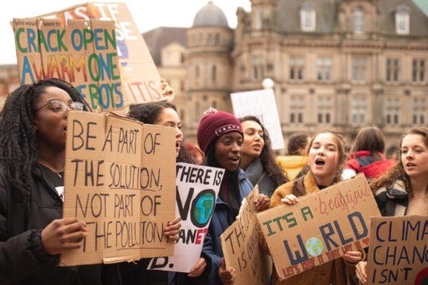 Les étudiants en marche pour le climat